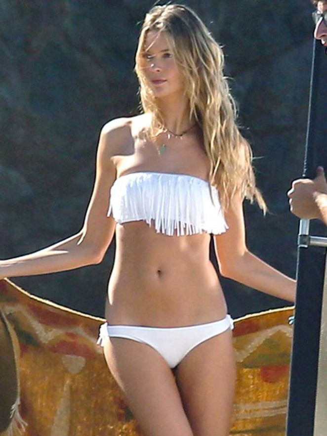 Behati Prinsloo - Bikini Photoshoot on Malibu Beach