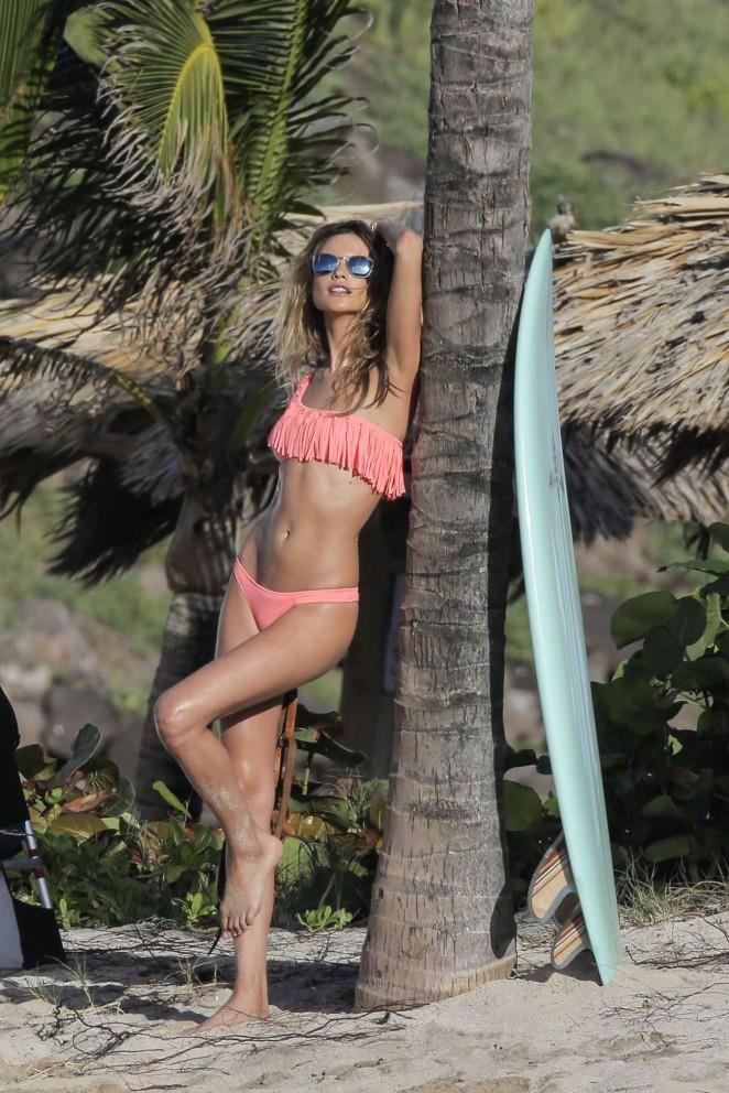Behati Prinsloo - Victoria's Secret Bikini Photoshoot in the Caribbean