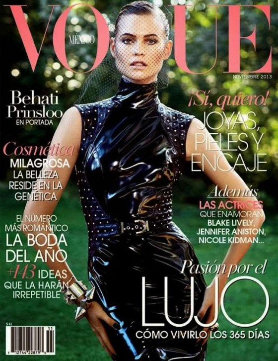 Behati Prinsloo: Vogue Mexico Cover -01