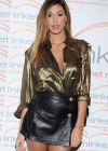 Belen Rodriguez showing legs and cleavage at The Linkem Gala in Milan