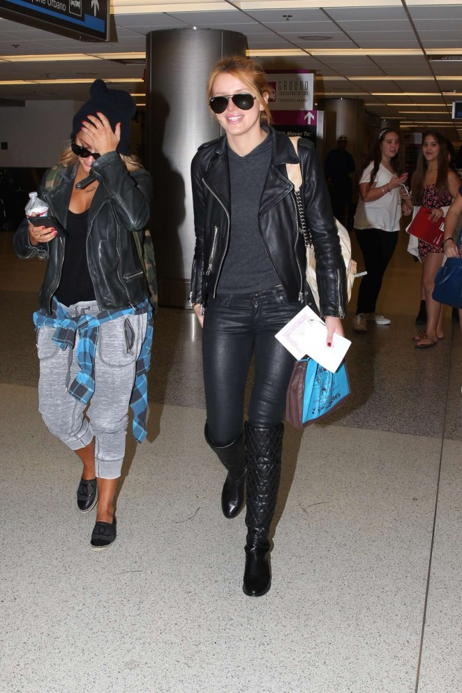 Bella Thorne in Leather -14