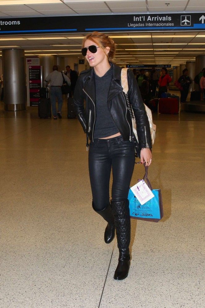 Bella Thorne in Leather -16