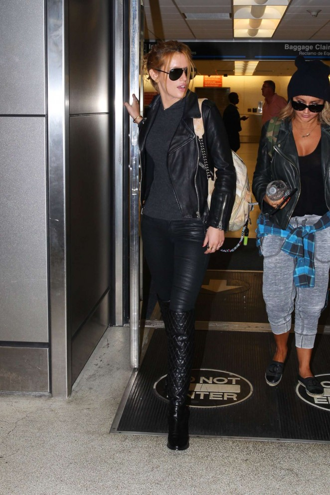 Bella Thorne in Leather -17