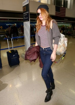 Bella Thorne in jeans at LAX -13