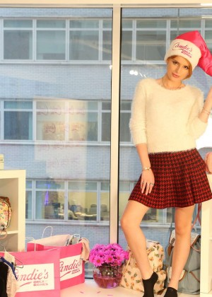 Bella Thorne at the Candie's Office in New York City