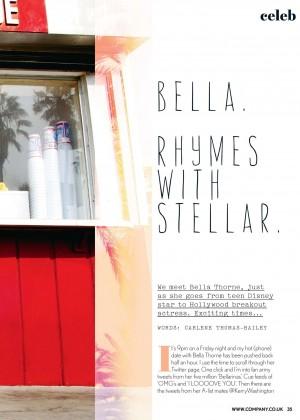 Bella Thorne: Company UK 2014 -01