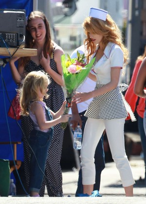 Bella Thorne: Filming her new music video -13