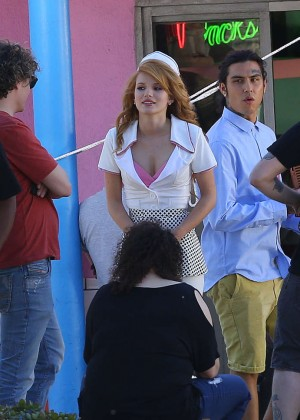 Bella Thorne: Filming her new music video -30