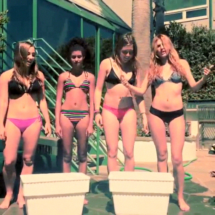 Bella Thorne – Ice Bucket Challenge in a Bikini