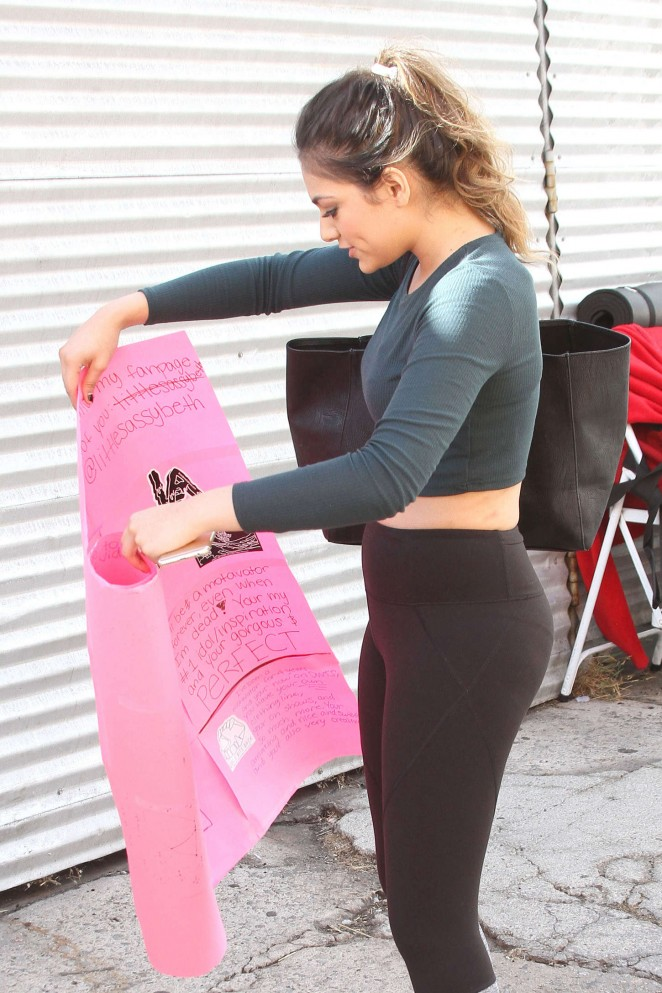 Bethany Mota in Leggings at DWTS Rehearsal Studio in Hollywood