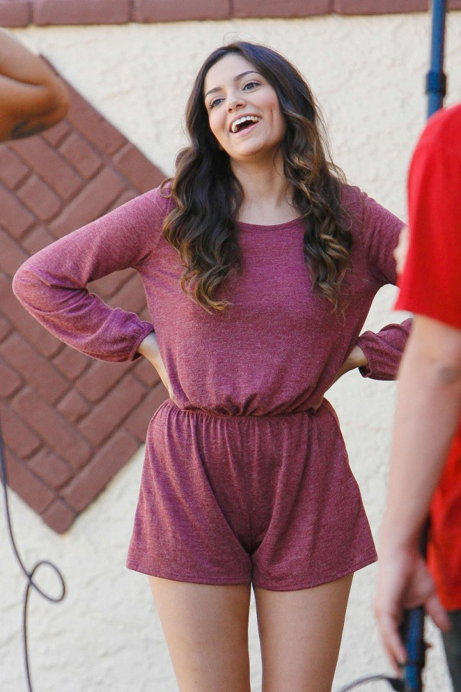 Bethany Mota - Filming a DWTS Promotion in Hollywood