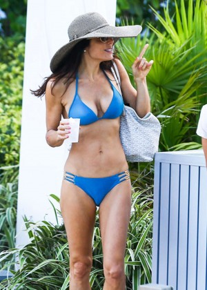 Bethenny Frankel in Blue Bikini in Miami