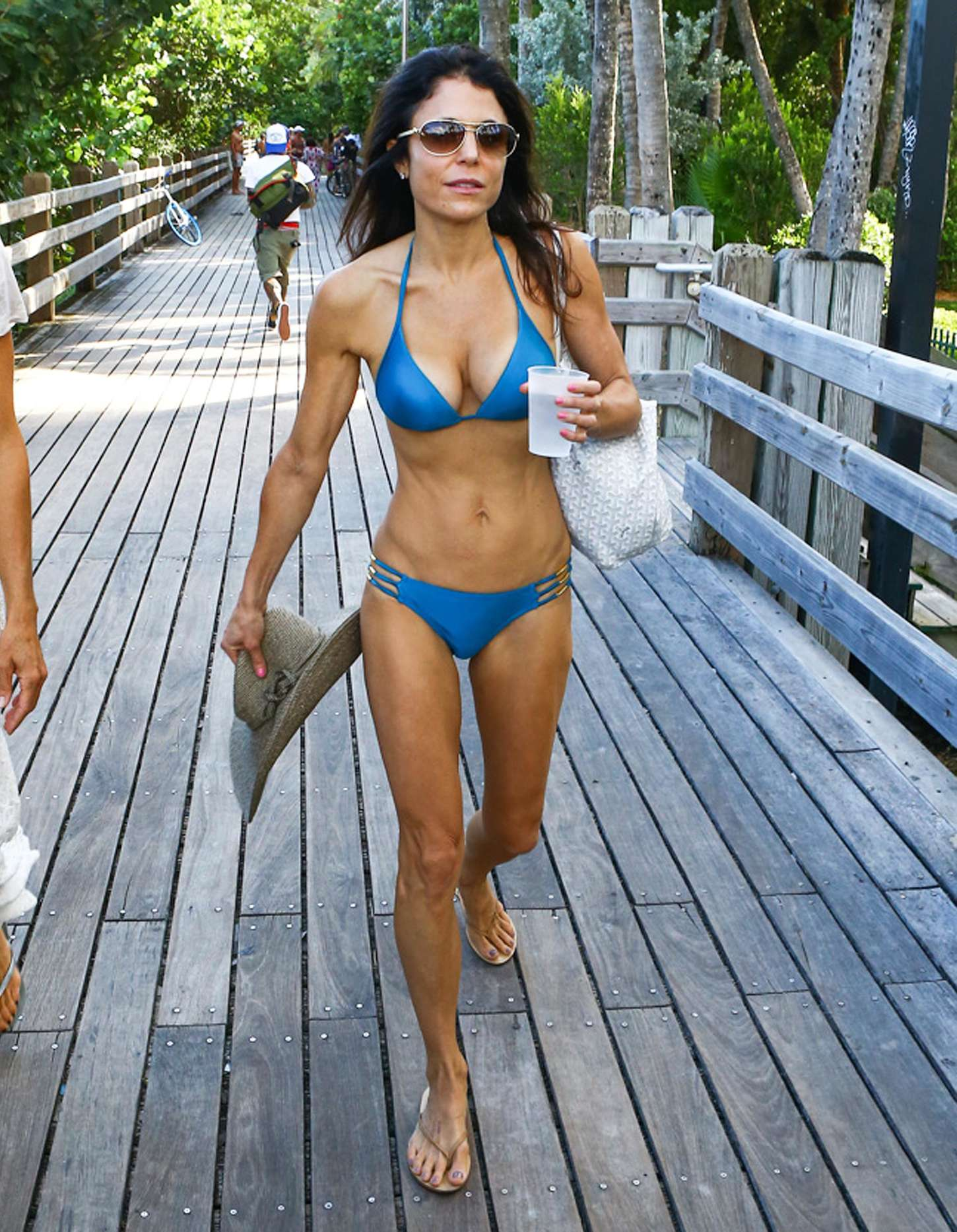 Bethenny Frankel in Blue Bikini