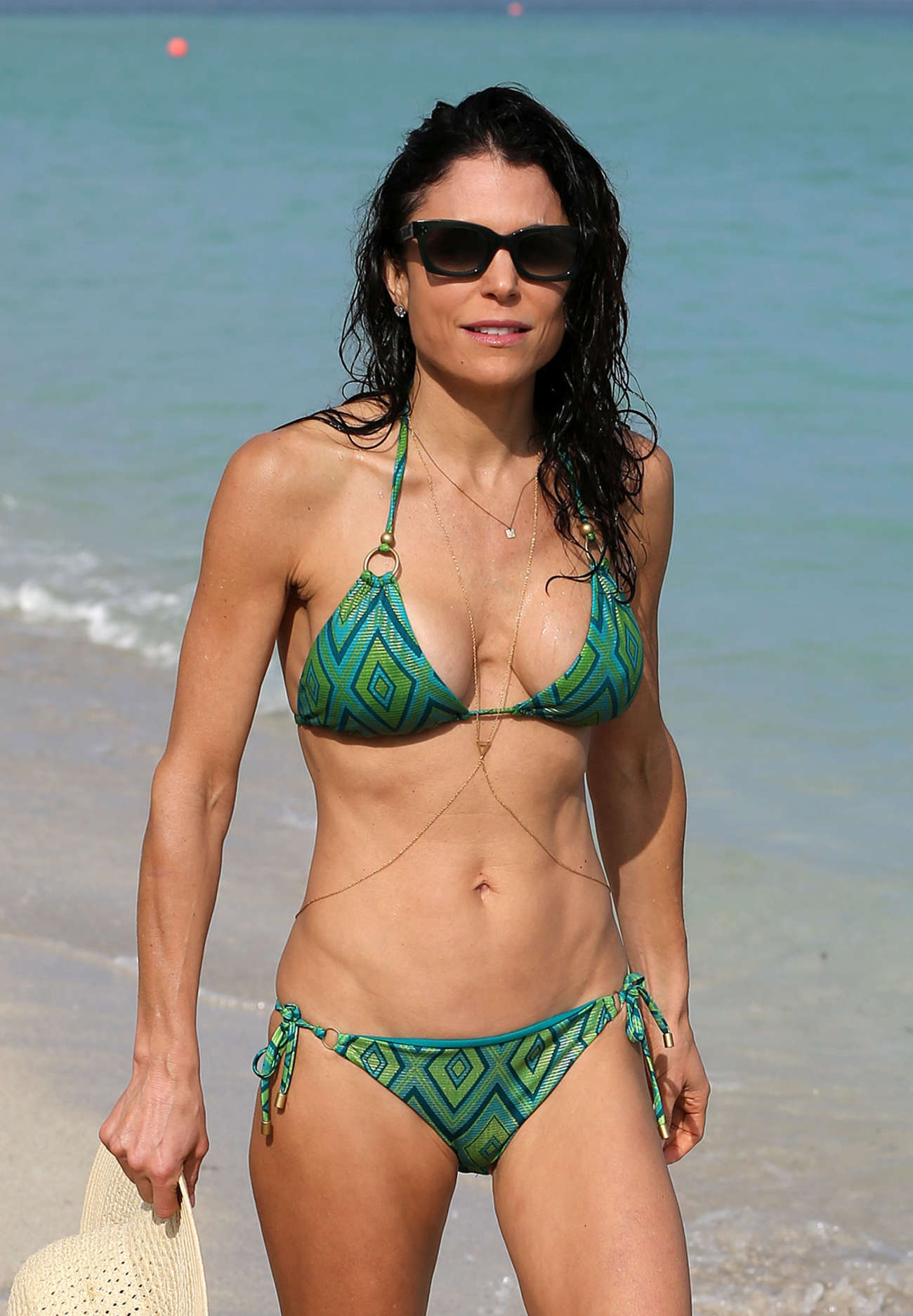 Bethenny Frankel in Green Bikini -13 | GotCeleb