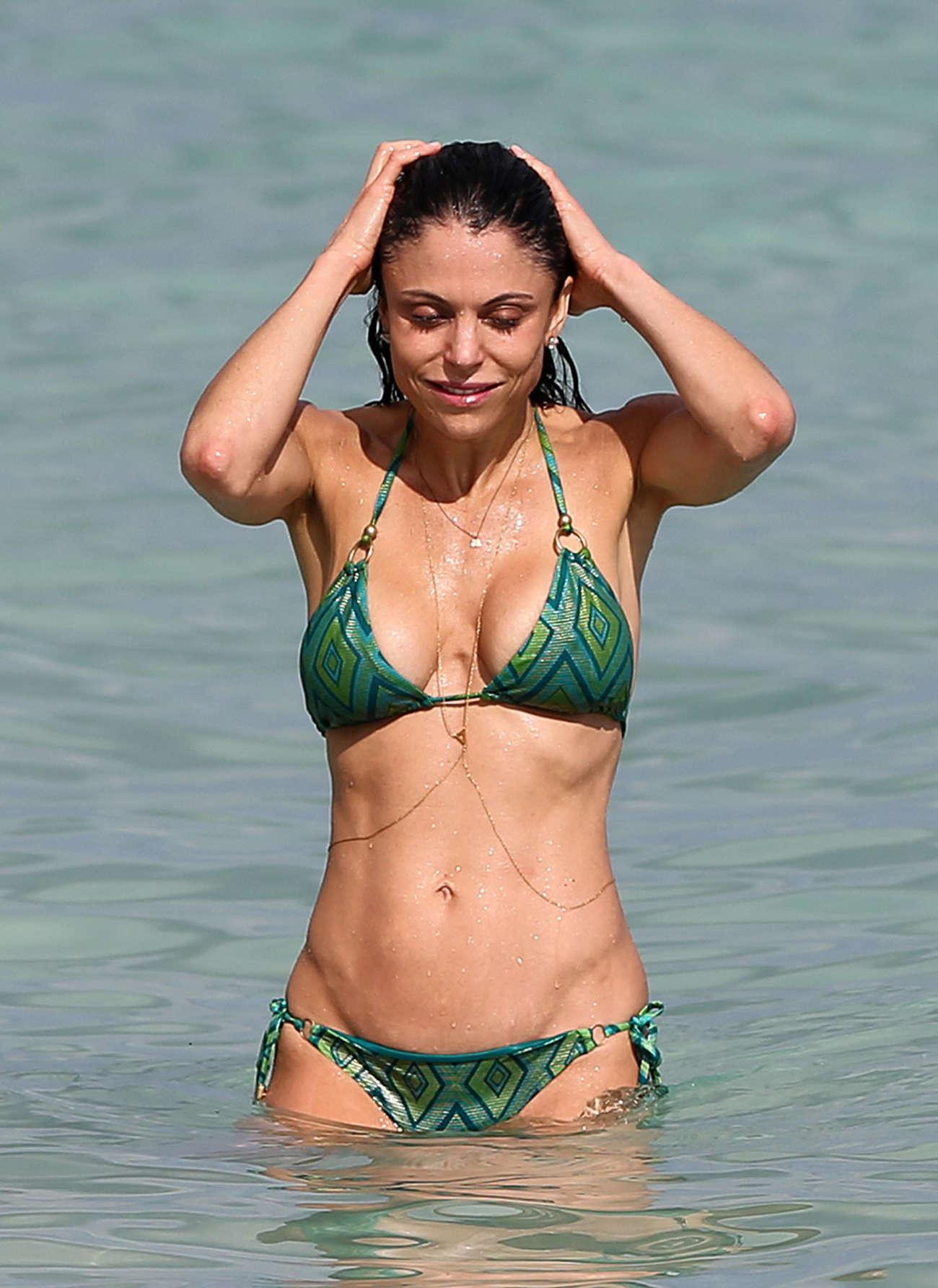 Green bikini swimsuit