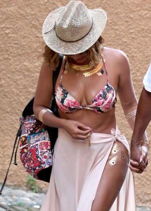 Beyonce in Bikini in Portofino