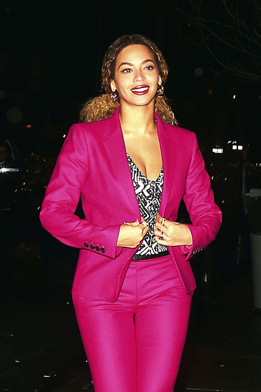 Beyonce in Pink out in New York