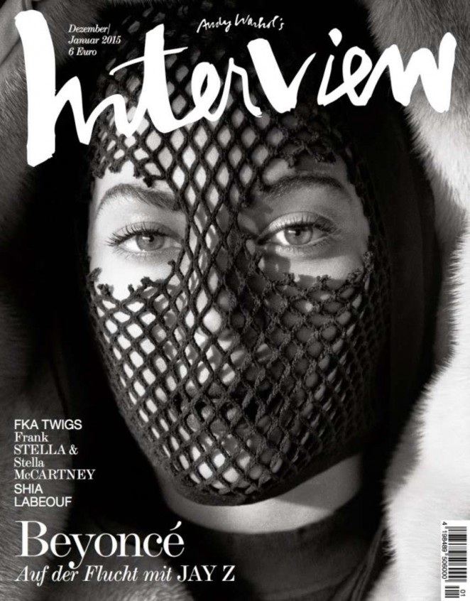 Beyonce Gets - Interview Germany Magazine Cover (Dec/Jan 2014/2015)