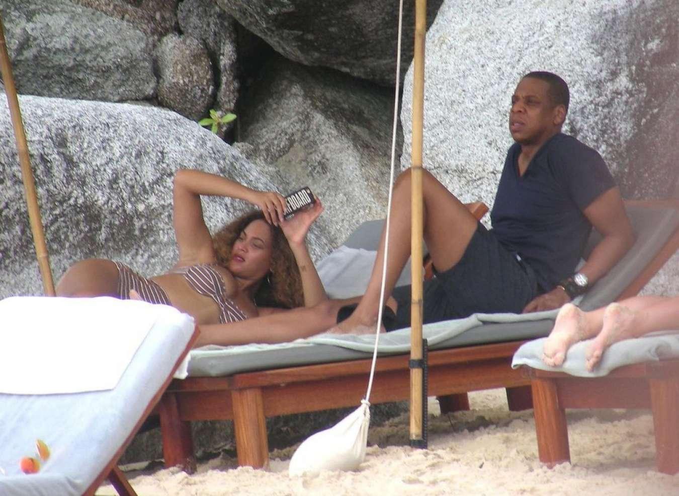 Beyonce in Bikini on the Beach in Thailand