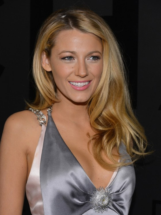 Blake Lively cleavage candids at 80th Anniversary Chanel Bijoux De Diamant