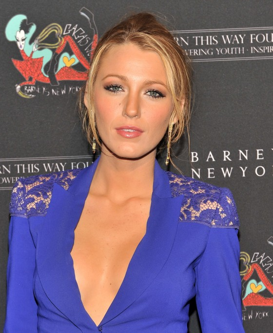 Blake Lively – Cleavage at Barneys New York Launch of Gagas Workshop-04