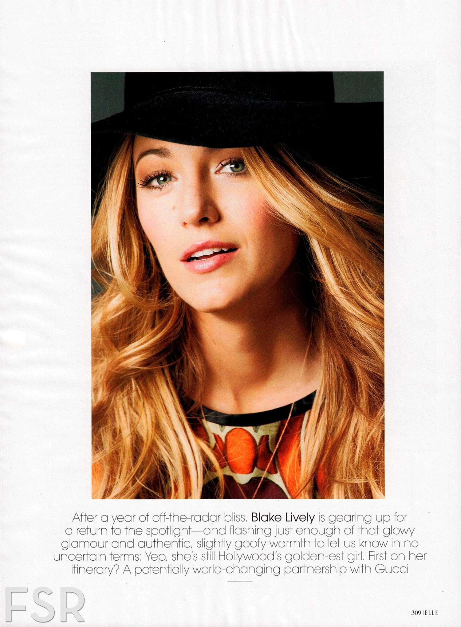 Blake Lively 2014 : Blake Lively: Elle Magazine -01