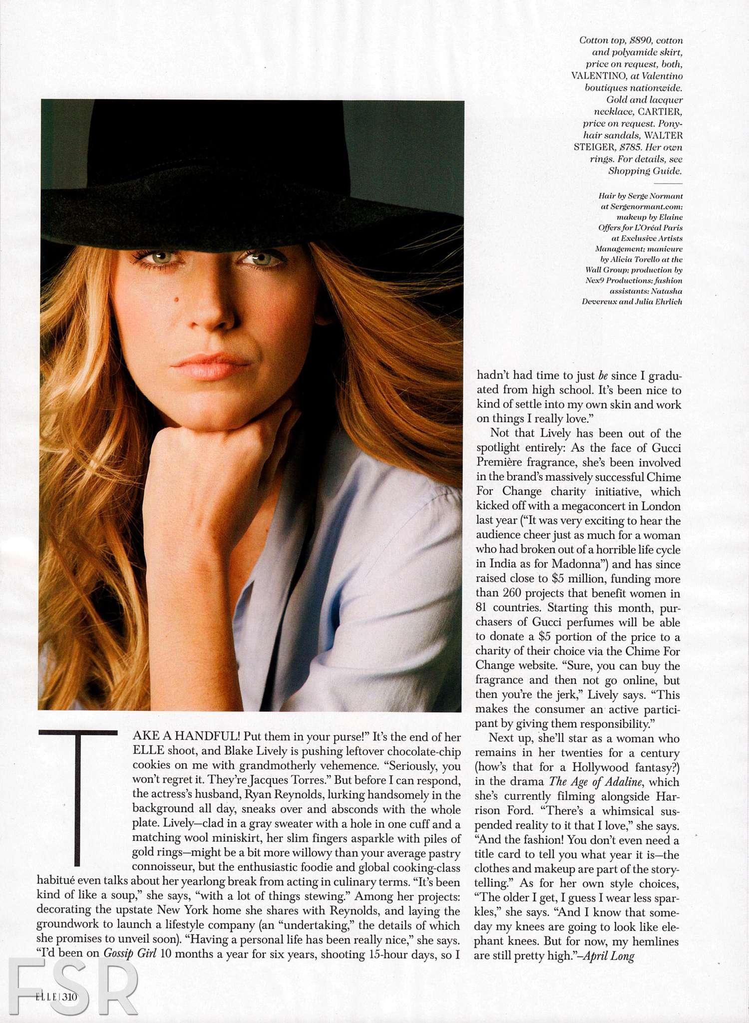 Blake Lively 2014 : Blake Lively: Elle Magazine -02