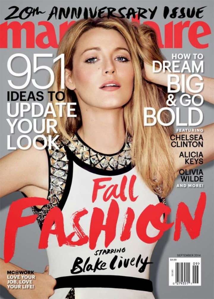 Blake Lively - Marie Claire US Magazine (September 2014)