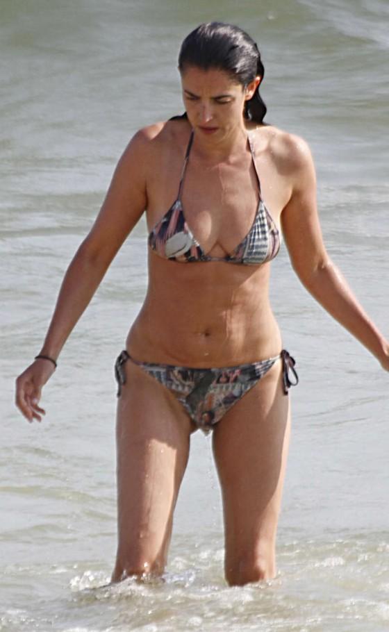 Blanca Romero Wearing Bikini in Huelva - Spain-12