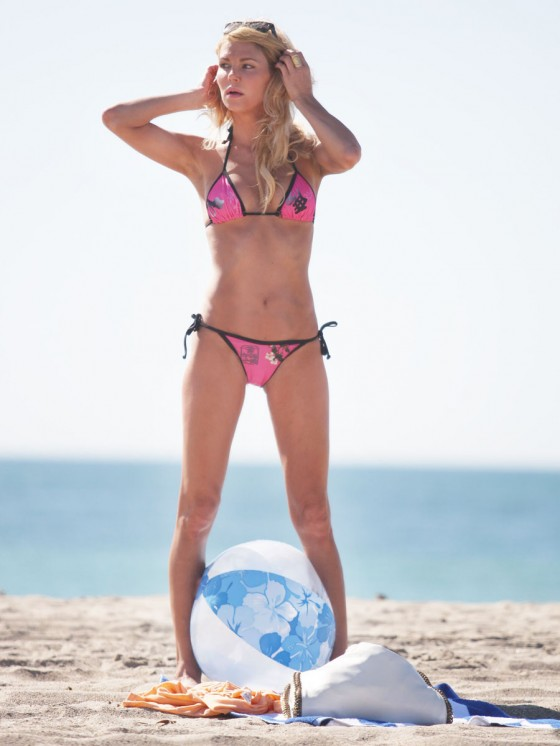 Brandi Glanville - Bikini Candids on the beach in LA -08