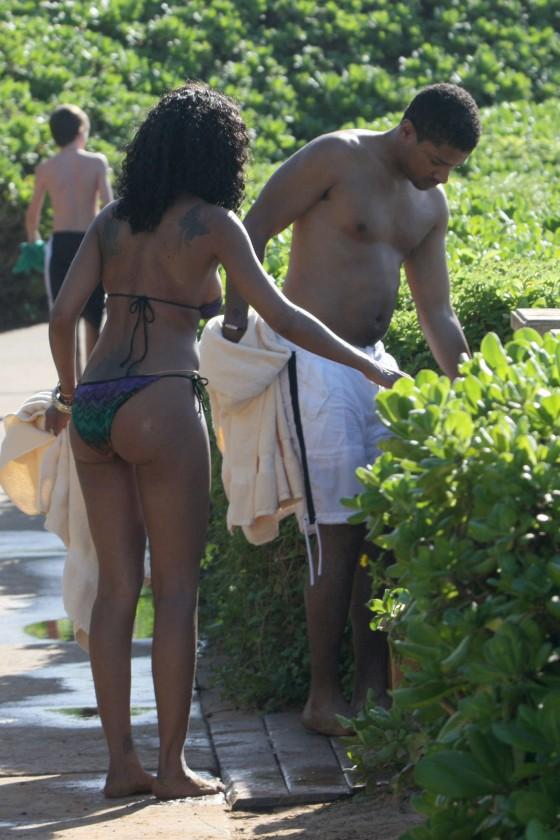 Brandy Norwood In Bikini in Hawaii -03 - GotCeleb