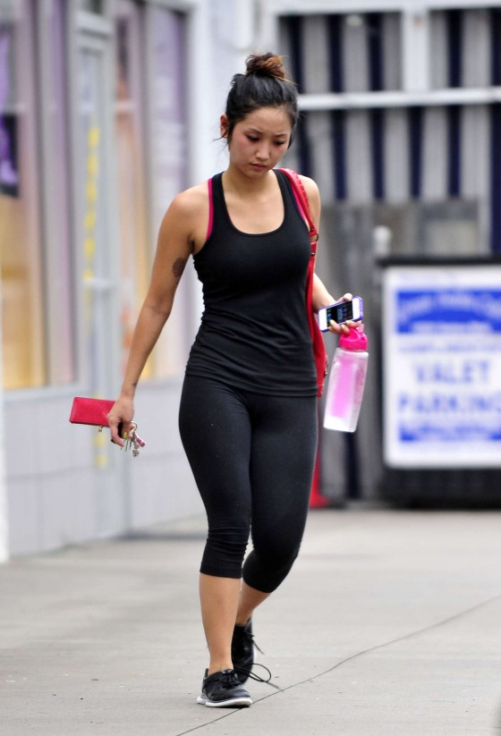 Brenda Song - at the gym in Studio City