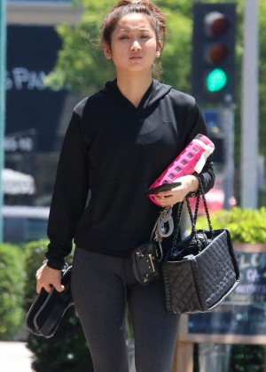 Brenda Song goes for stroll in Beverly Hills -10