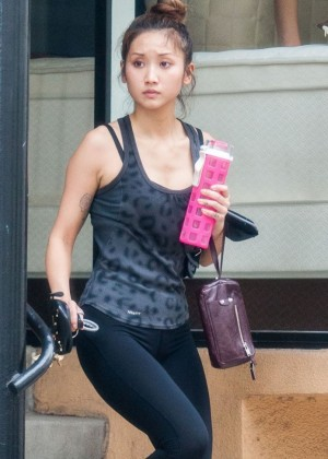 Brenda Song Leaving a Gym in Studio City