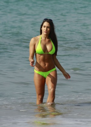 Bella Twins Bikini Photos: 2014 LA Beach -38