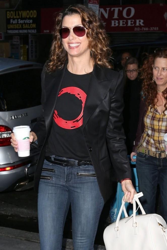 Bridget Moynahan in Jeans at NBC Studios in NYC