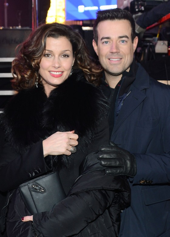 Bridget Moynahan at New Year's Eve 2013 with Carson Daly in NYC