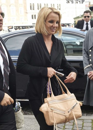 Britney Spears - Arriving in Denmark