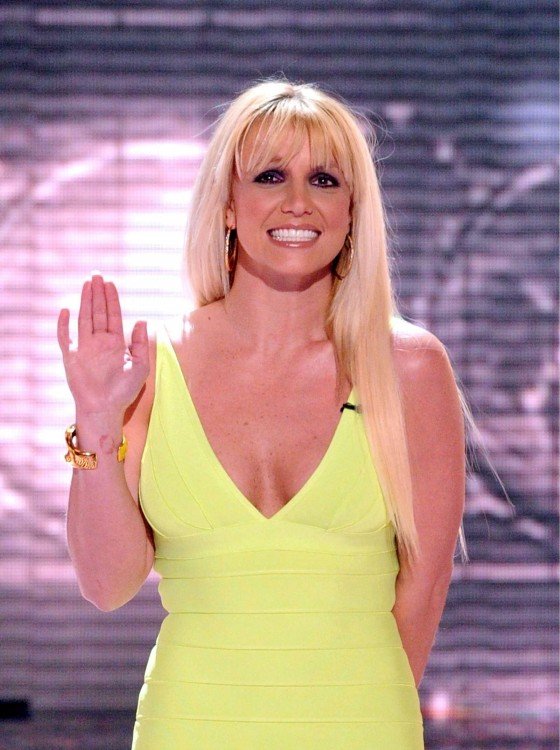 Britney Spears shows her body in mini dress at The X Factor semi-final in LA