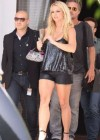 Britney Spears - Black Leather Cut Off Short Shorts In Miami