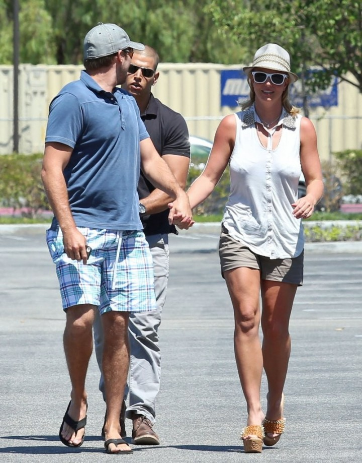 Britney Spears In Shorts Out and about in Los Angeles -04