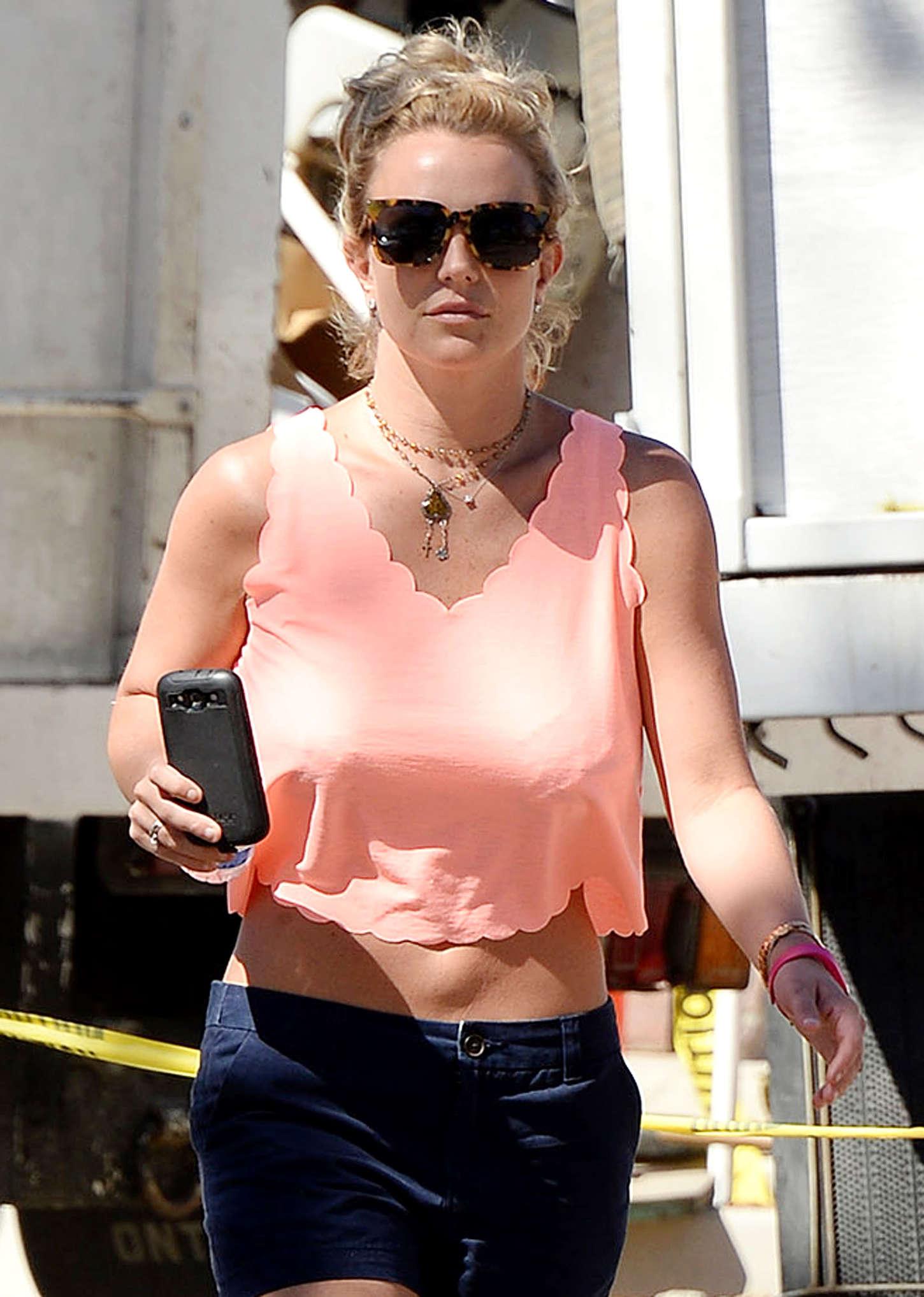 Britney Spears in Blue Shorts -15 | GotCeleb