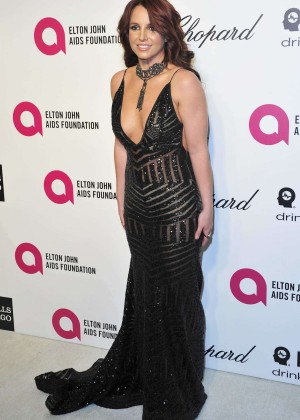 Britney Spears: 2013 Elton John AIDS Foundation Academy Awards Party -01