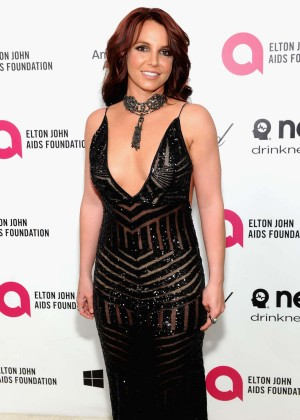 Britney Spears: 2013 Elton John AIDS Foundation Academy Awards Party -09