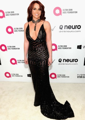 Britney Spears: 2013 Elton John AIDS Foundation Academy Awards Party -11