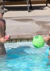 Britney Spears - wearing a bikini at a pool in Rancho Palos Verdes -01