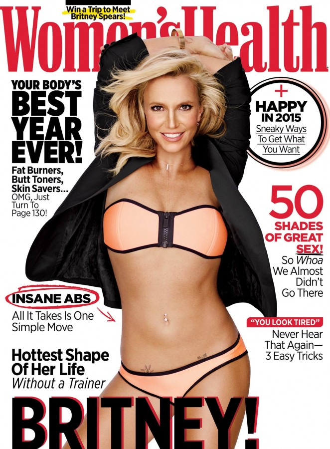 Britney Spears - Women's Health Magazine Cover (January 2015)