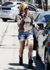 Brittany Snow in Jean Cutoffs and Little Cowboy Boots Out in LA