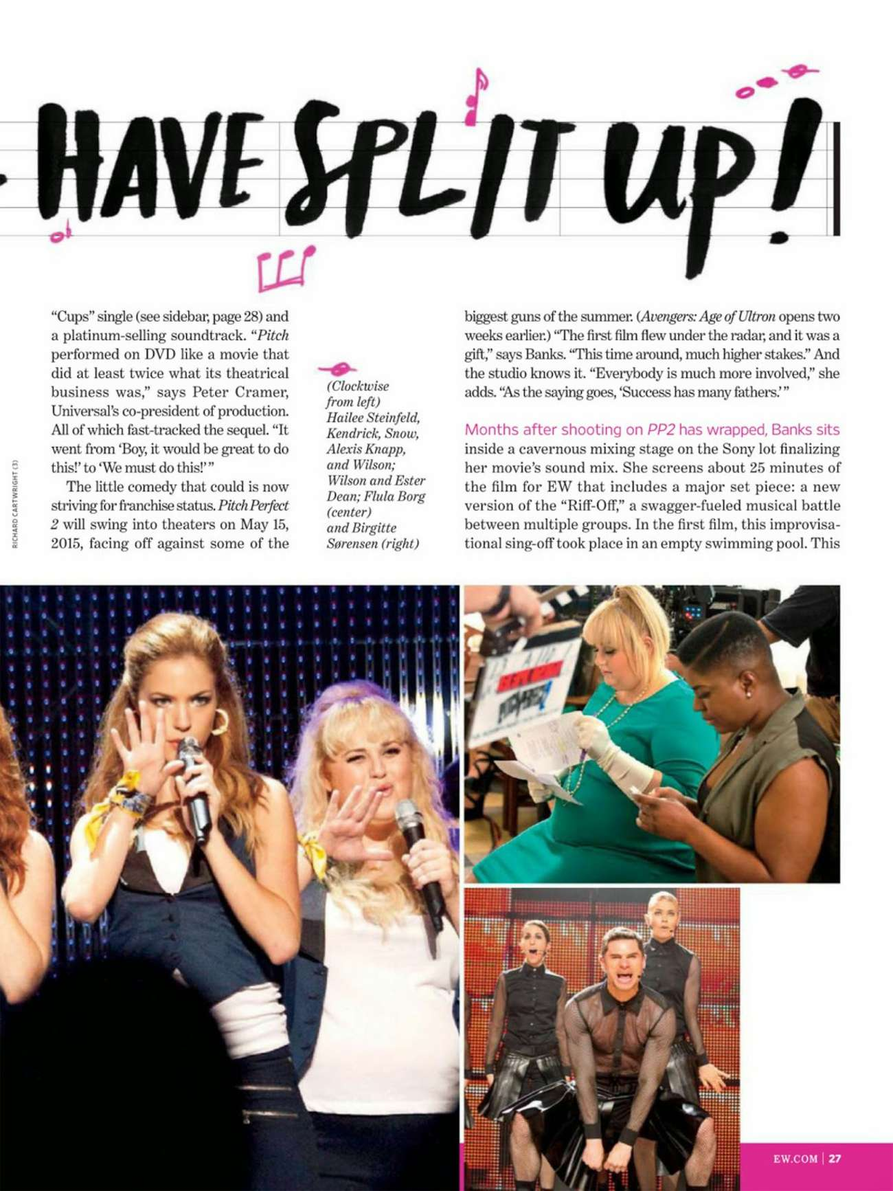 Brittany Snow Rebel Wilson And Anna Kendrick Entertainment Weekly 2014 08