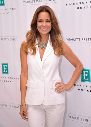 Brooke Burke - co-hosts Pretty Great Family Debate with Embassy Suites in NYC-09
